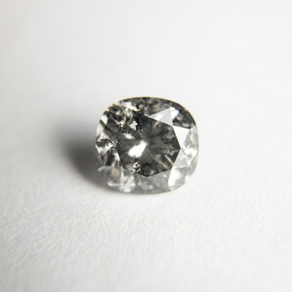 Salt and Pepper Brilliant Diamond - 0.92ct Cushion