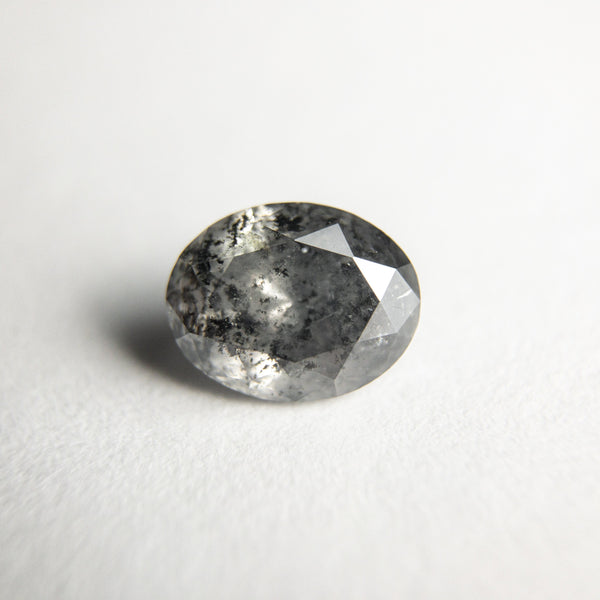 Salt and Pepper Brilliant Diamond - 0.95ct Oval