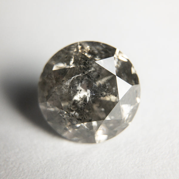 Salt and Pepper Brilliant Diamond - 3.52ct Round