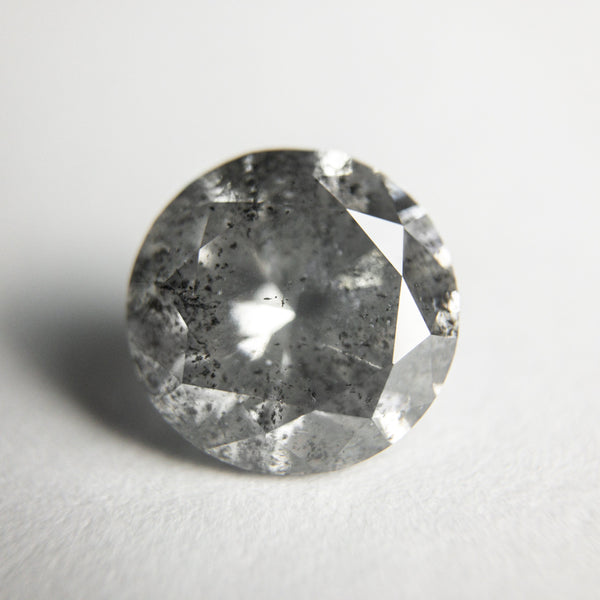Salt and Pepper Brilliant Diamond - 3.27ct Round