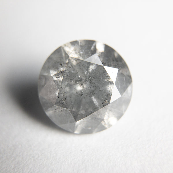 Salt and Pepper Brilliant Diamond - 3.13ct Round
