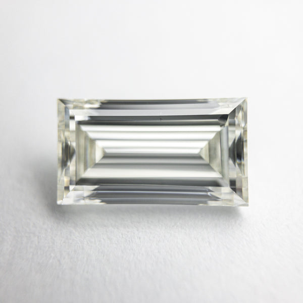 White Antique Step Cut Diamond - 2.01ct Baguette