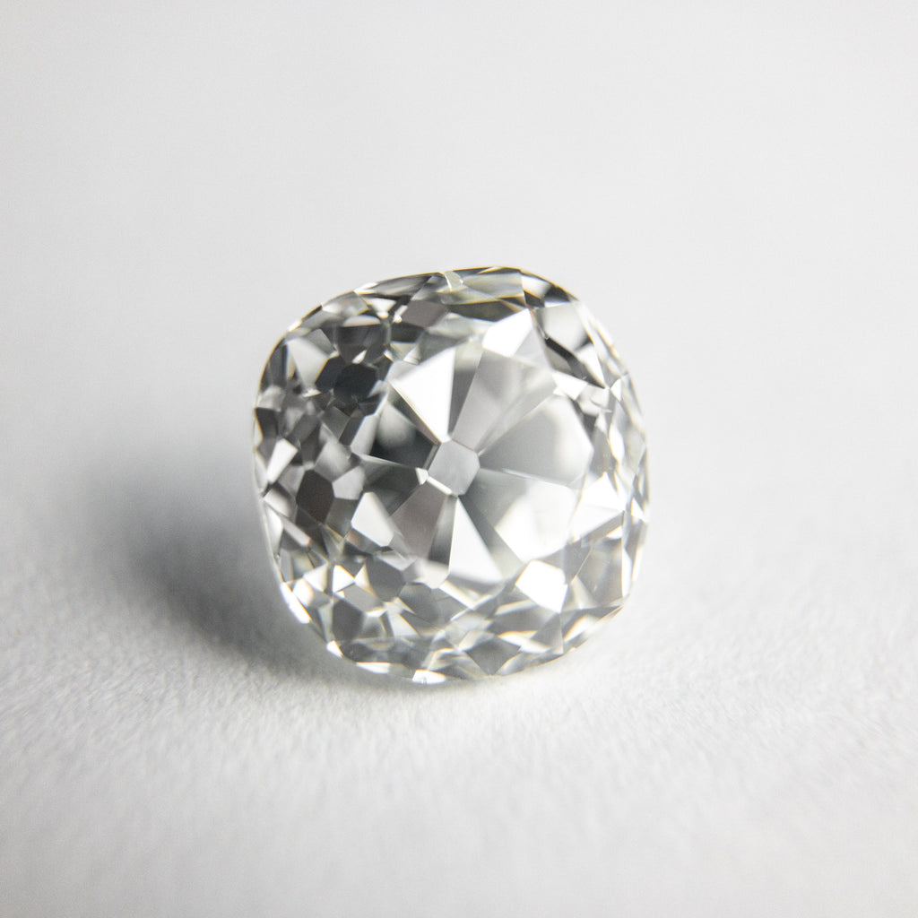White Antique Old Mine Cut Diamond - 1.83ct Cushion