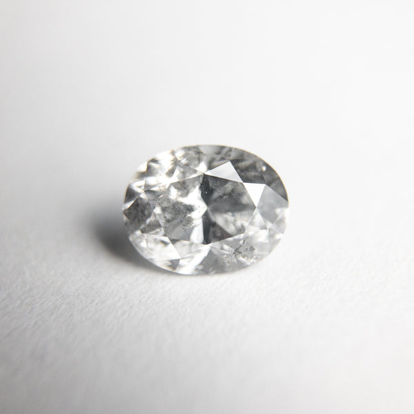 Icy Salt and Pepper Brilliant Diamond - 0.84ct Oval