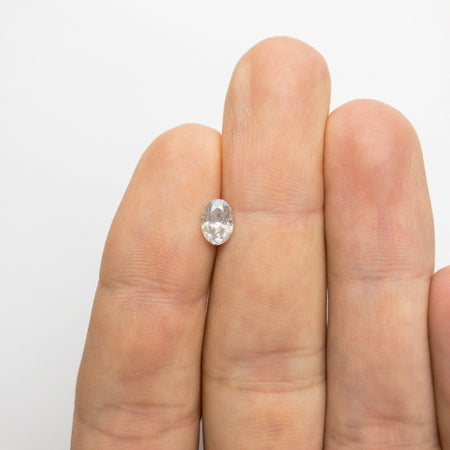Icy Salt and Pepper Brilliant Diamond - 0.93ct Oval