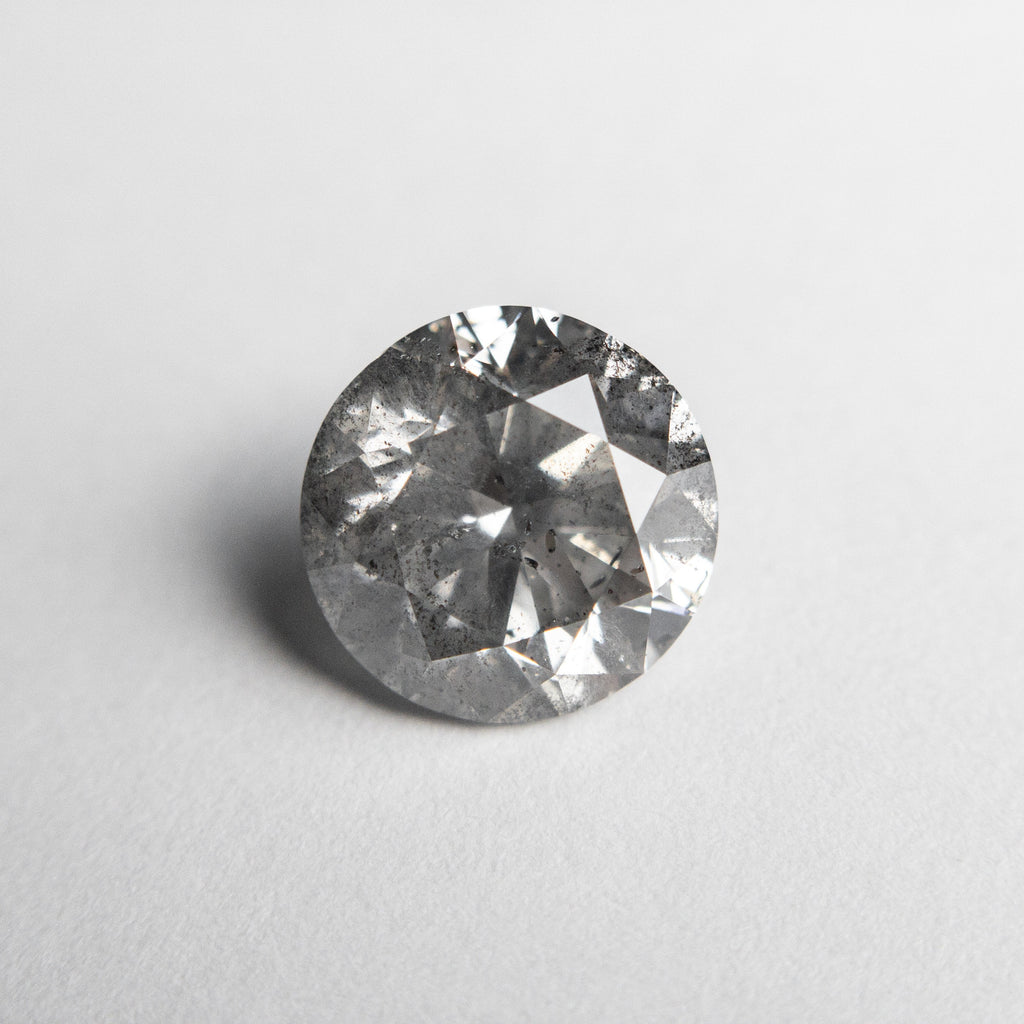 Salt and Pepper Brilliant Rosecut Diamond - 2.69ct Round - Foe & Dear