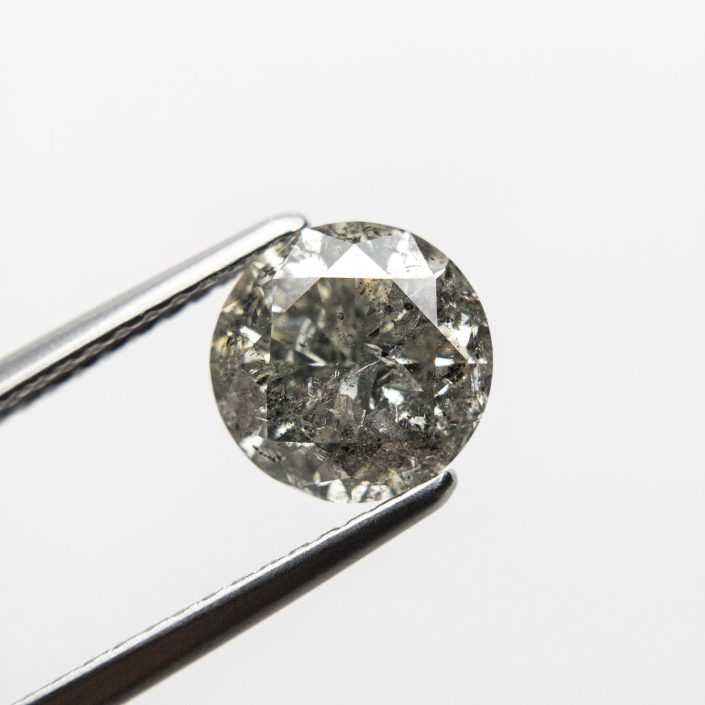 Salt and Pepper Brilliant Diamond - 1.76ct Round - Foe & Dear