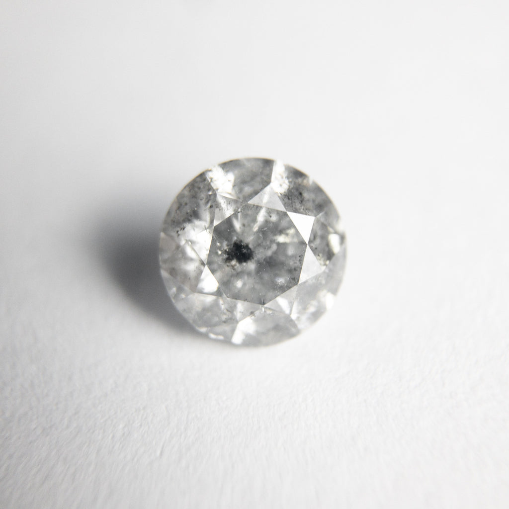 Salt and Pepper Brilliant Diamond - 1.01ct Round