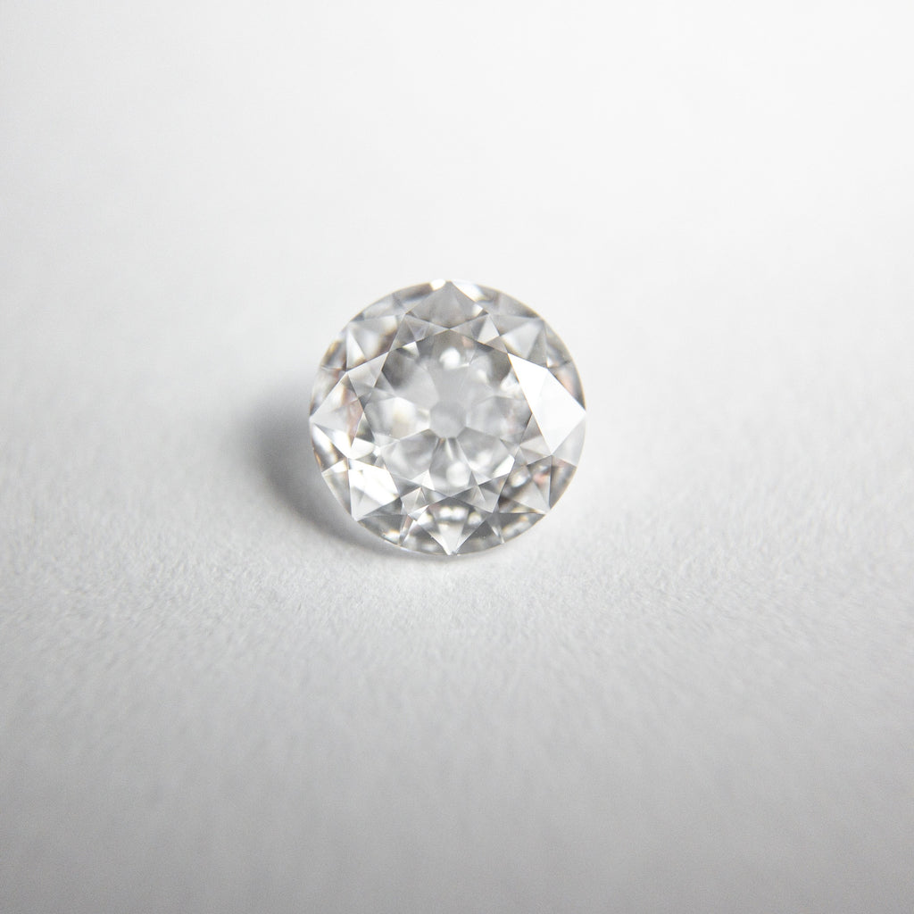 Modern White Old European Cut Diamond - 0.50ct Round
