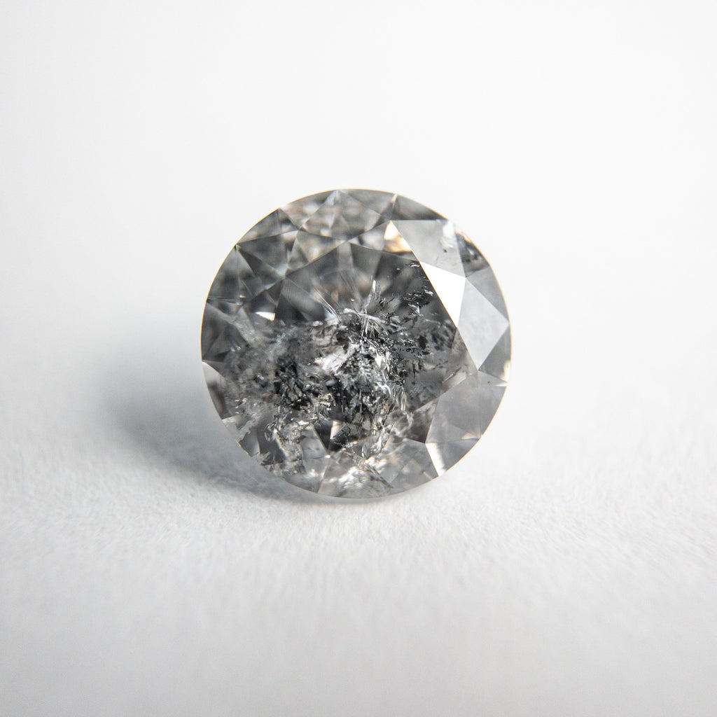 Salt and Pepper Brilliant Diamond - 1.66ct Round