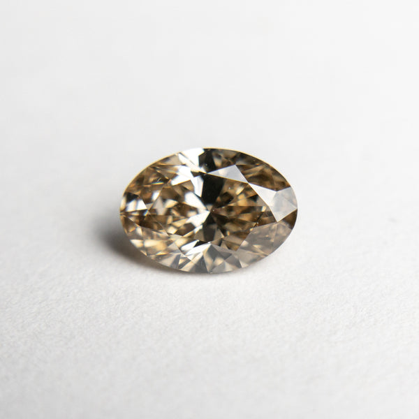 Champagne Brilliant Diamond - 1.01ct Oval