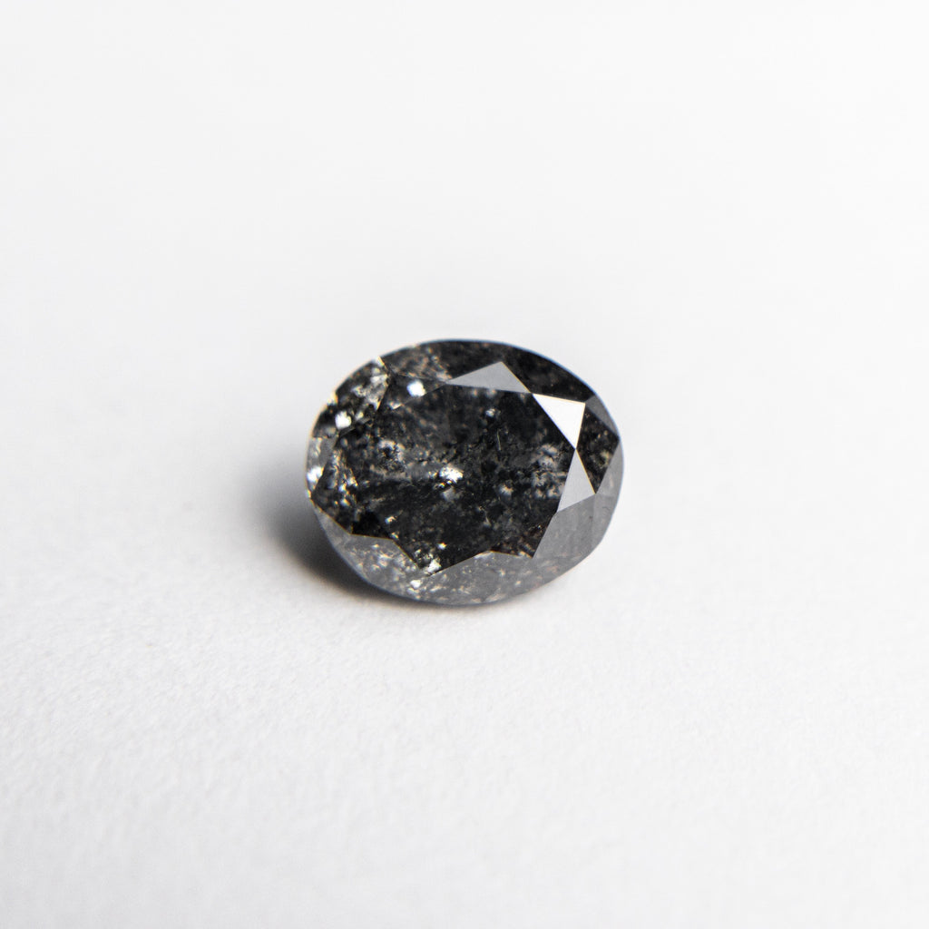 Salt and Pepper Brilliant Diamond - 0.91ct Oval