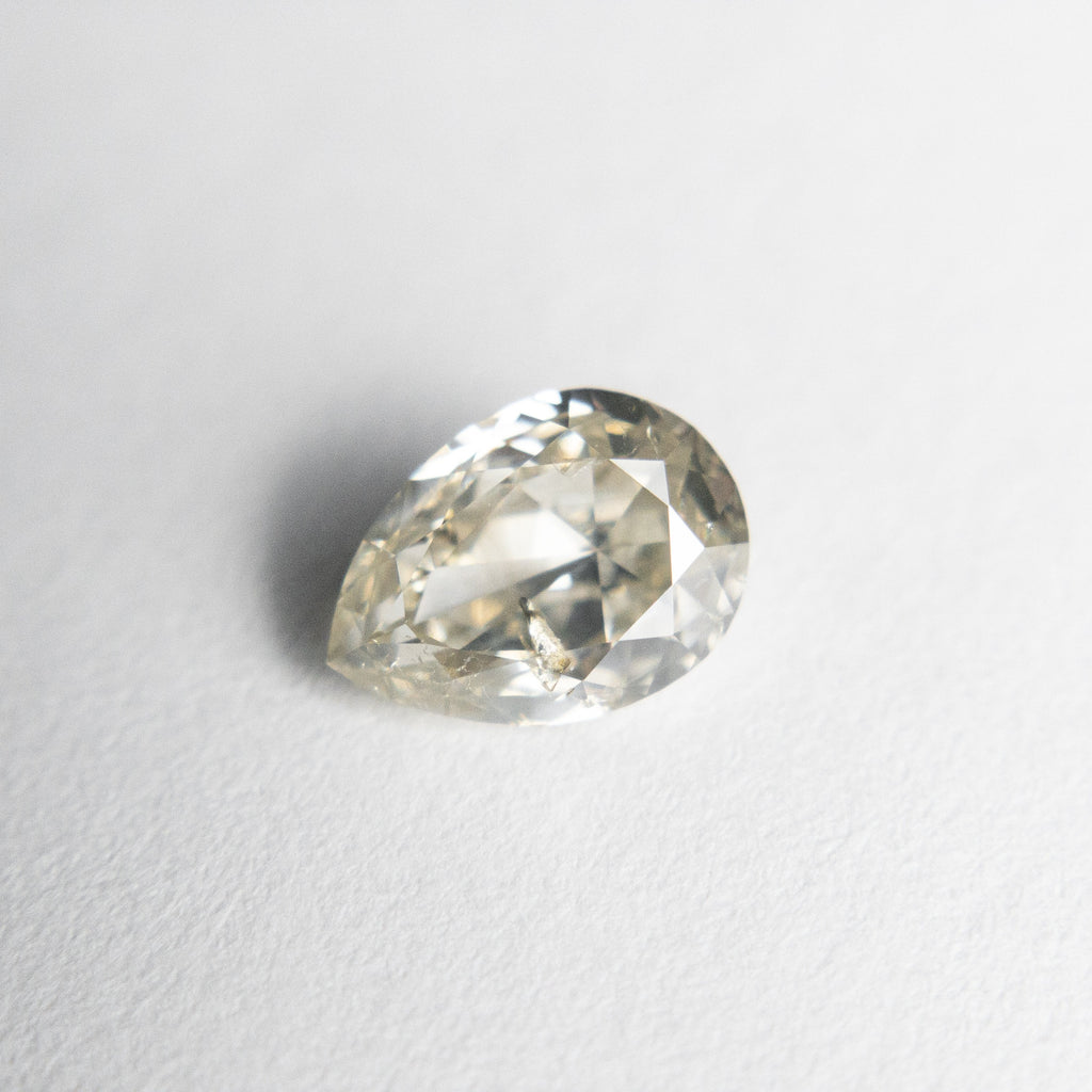 Champagne Double Cut Diamond - 0.92ct Pear - Foe & Dear