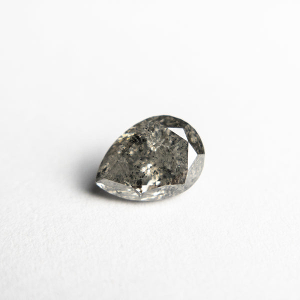 Salt and Pepper Brilliant Diamond - 1.02ct Pear - Foe & Dear