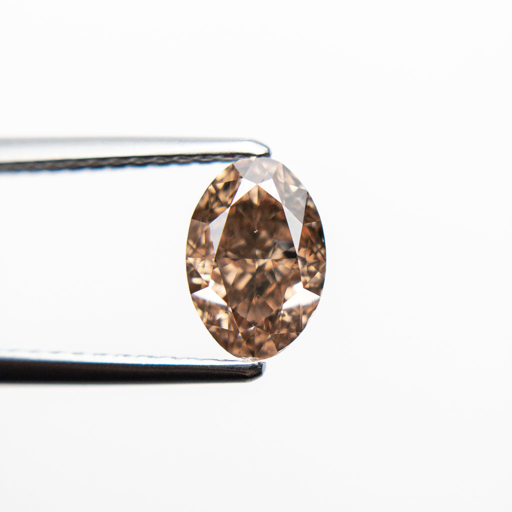 Argyle Fancy Brown Orange Brilliant Diamond - 1.13ct Oval - Foe & Dear