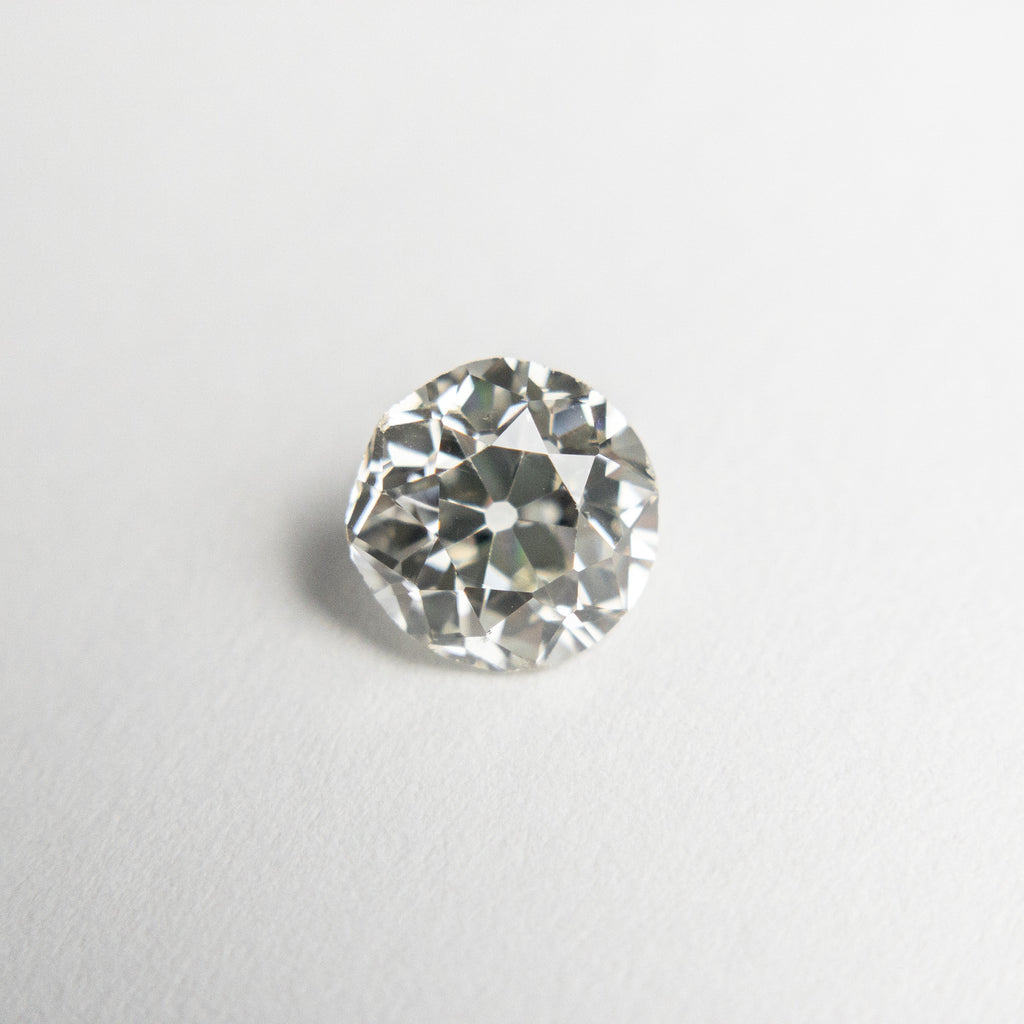 White Antique Old European Cut Diamond - 0.72ct Round - Foe & Dear