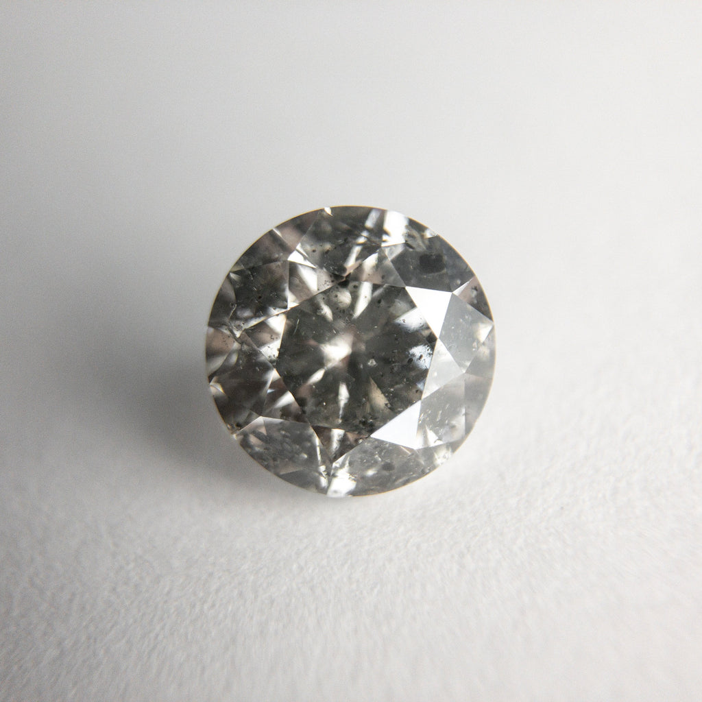 Salt and Pepper Brilliant Diamond - 1.50ct Round - Foe & Dear