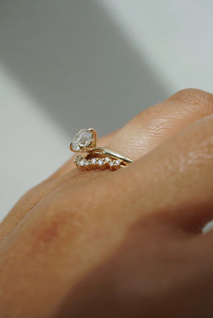 Only One Ring - .91ct Round Salt and Pepper Diamond *SOLD