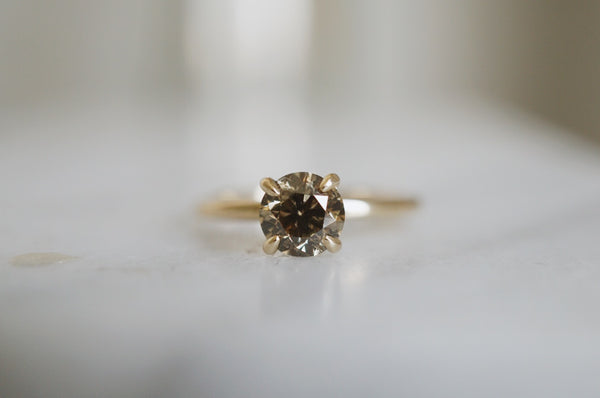 Only One Ring - 1.04ct Champagne Salt and Pepper Diamond *SOLD