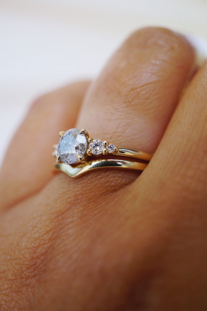 Selene Ring - .80ct Salt and Pepper *ready-to-ship *SOLD