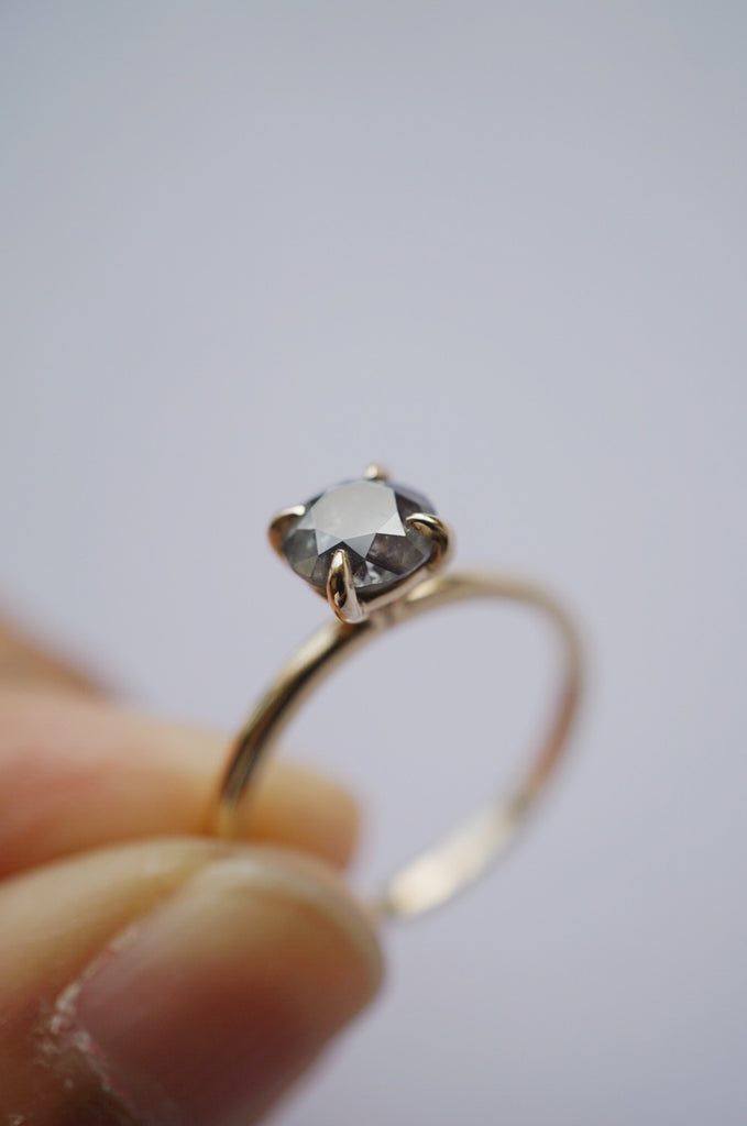 Only One Ring - .99ct Salt and Pepper Diamond *ready-to-ship