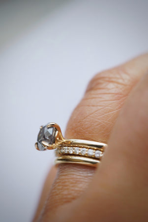 Only One Ring - .99ct Salt and Pepper Diamond *SOLD