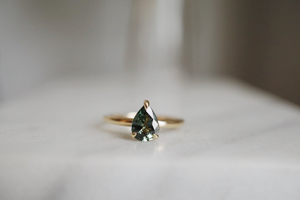 Only One Ring - 1.21ct Pear Green Sapphire *SOLD