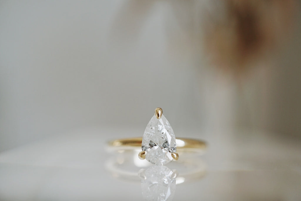 Only One Ring - 1.06ct Pear Salt & Pepper Diamond *ready-to-ship