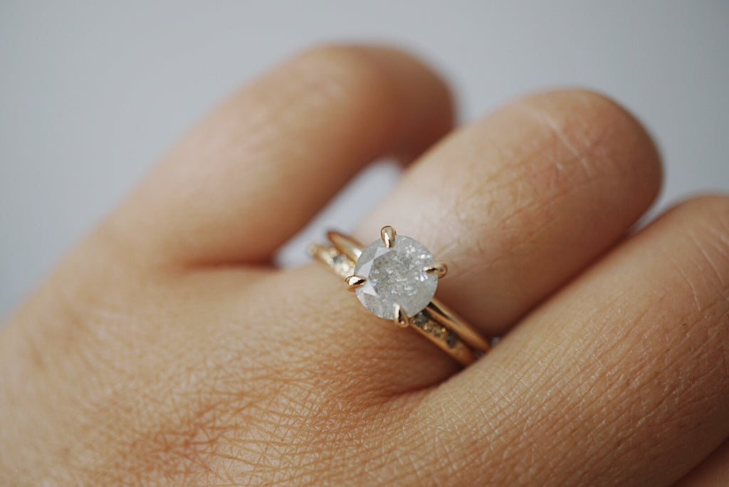 Only One Ring - 1.08ct Round Salt and Pepper Diamond *online exclusive