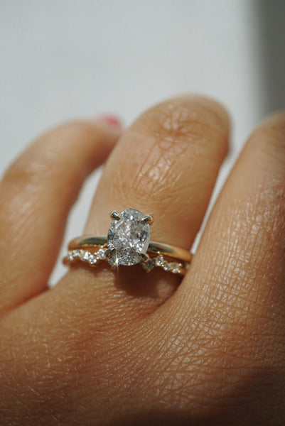 Only One Ring - 1.01ct Oval Salt and Pepper Diamond *SOLD