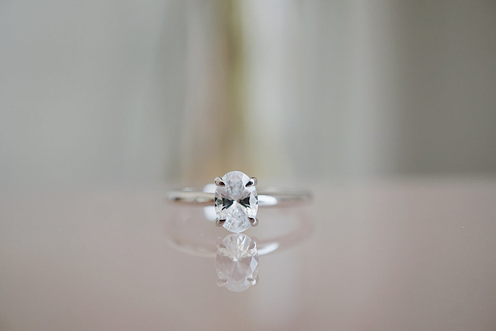 Only One Ring - Oval White Diamond *made-to-order