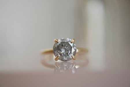 Only One Ring - 1.86ct Round Salt and Pepper Diamond *SOLD