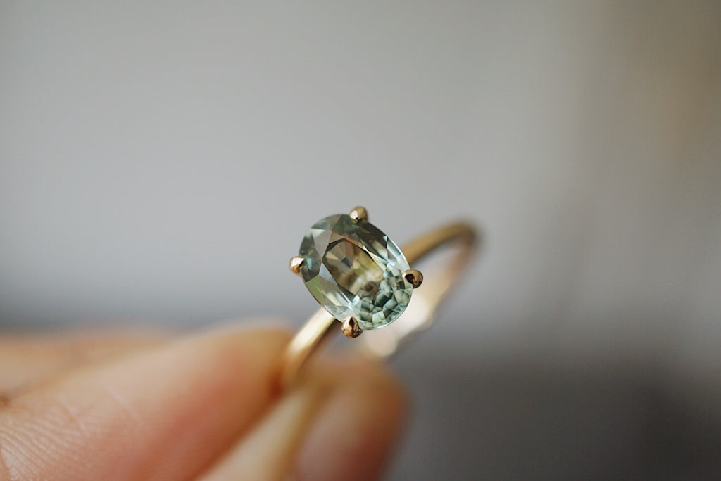 Only One Ring - Oval Green Sapphire *ready-to-ship