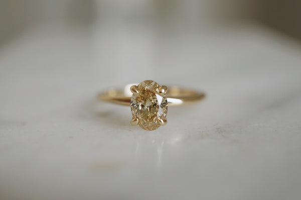 Only One Ring - 1.06ct Oval Champagne Salt and Pepper Diamond **SOLD