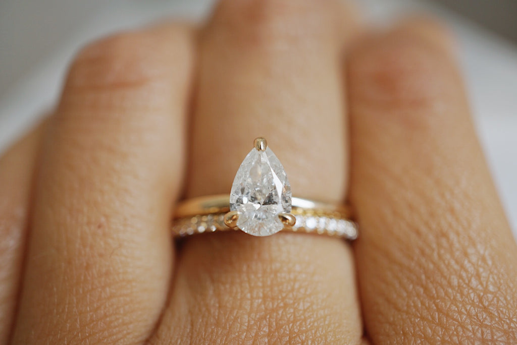 Only One Ring - 1.01ct Pear Salt & Pepper Diamond *SOLD