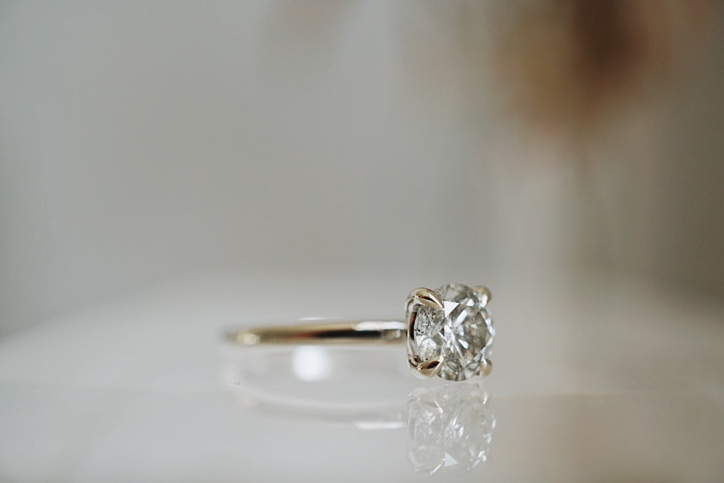 Only One Ring - 1.04ct Round Salt and Pepper Diamond *SOLD