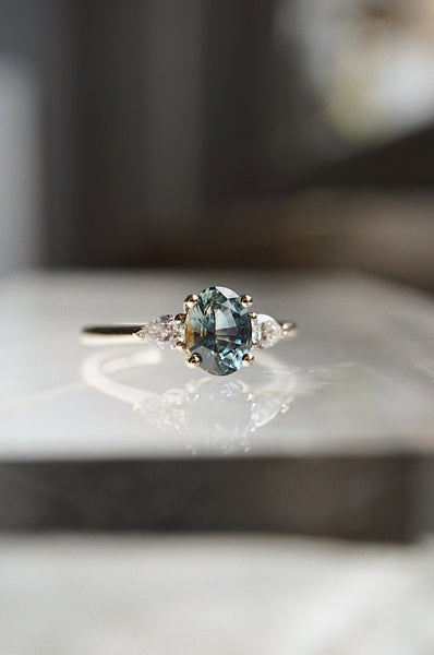 Belle Ring - 1.42ct Oval Montana Sapphire *SOLD