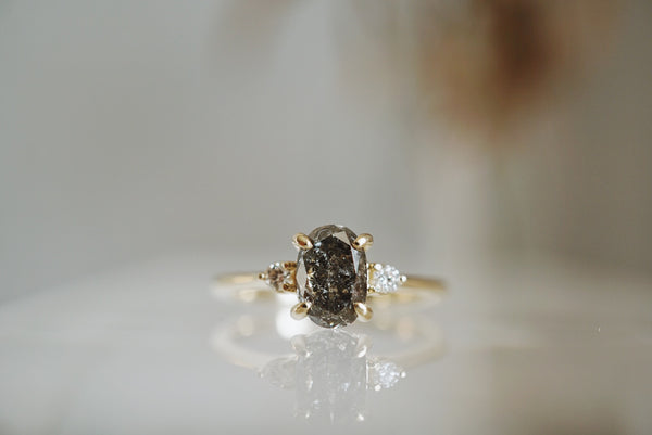 Companions Ring - 1.13ct Oval Salt and Pepper Diamond *SOLD