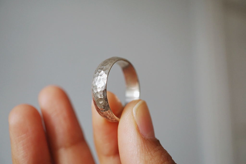Hammered Half Round Band / 5mm