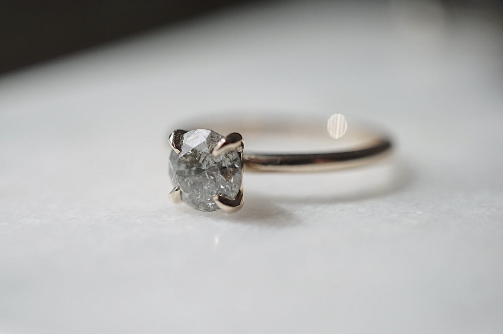 Only One Ring - .95ct Salt and Pepper Diamond *ready-to-ship