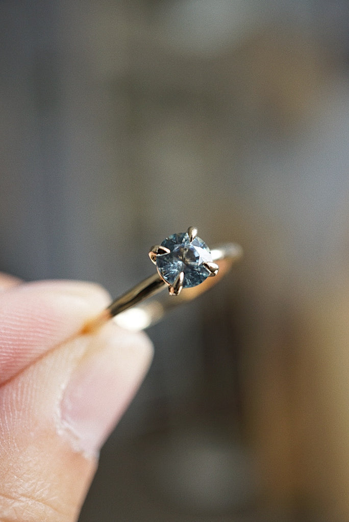 Only One Ring - 0.77ct Icy Grey Montana Sapphire  *SOLD