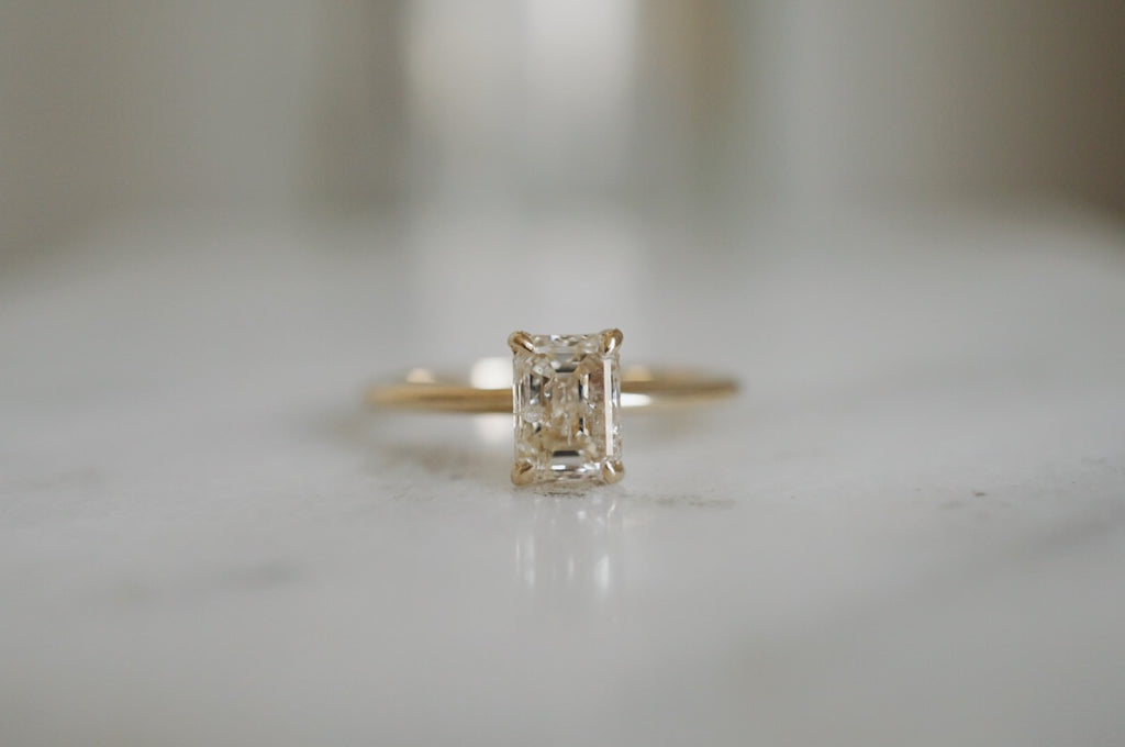 Only One Ring - 1.00ct Emerald Cut Champagne Salt and Pepper Diamond *SOLD