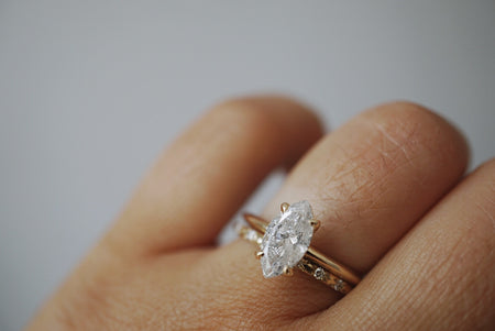 Only One Ring - 1.06ct Marquise Salt and Pepper Diamond - SOLD