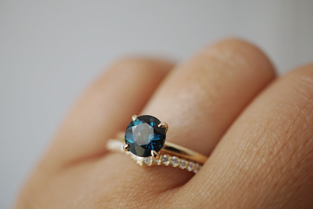 Only One Ring - Round Blue London Topaz *ready-to-ship