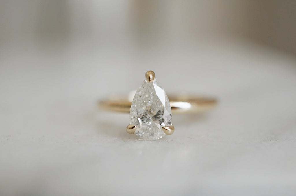 Only One Ring - 1.01ct Pear Salt & Pepper Diamond *ready-to-ship