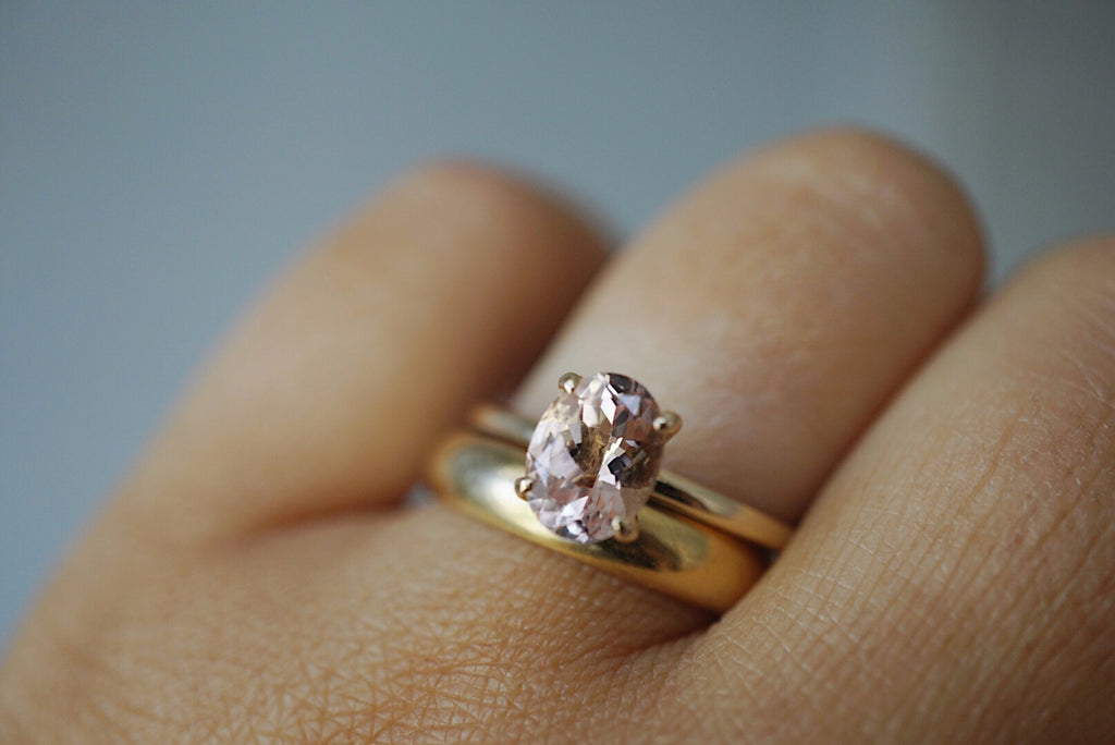 Only One Ring - Oval Pink Morganite