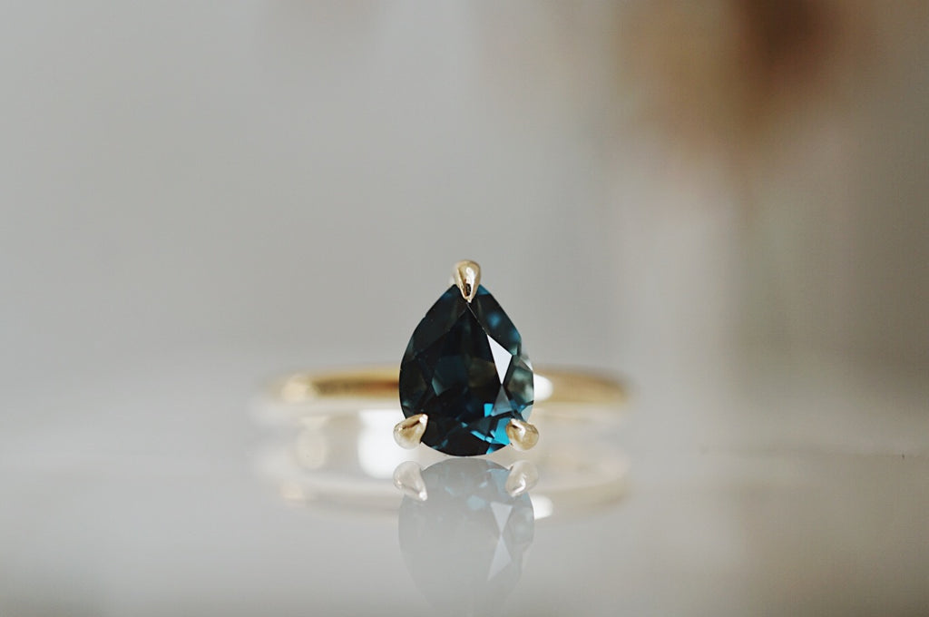 Only One Ring - 1.40ct Pear London Blue Topaz *SOLD