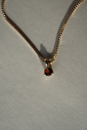 Baby Garnet Necklace