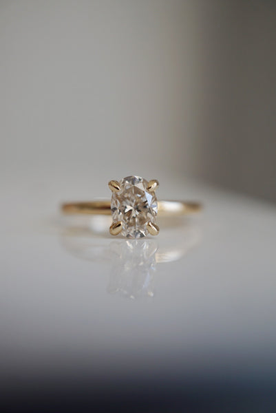 Only One Ring - 1.04ct Pale Oval Champagne Diamond *Ready to ship - Foe & Dear