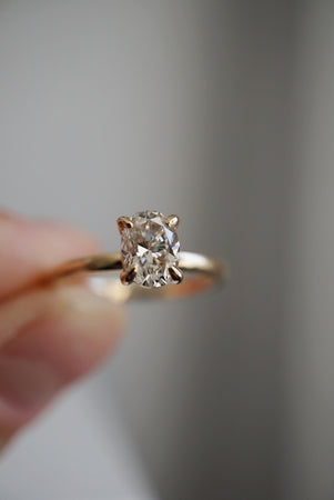 Only One Ring - 1.04ct Pale Oval Champagne Diamond *Ready to ship
